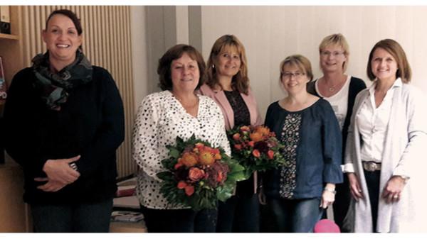 Gruppenbild mit der Referentin