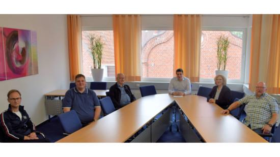 v.l.n.r.: Christian Schütz, Tobias Munsch, Georg Tranel, Alexander Kassner, Dr. Daniela De Ridder, Johannes Hessel