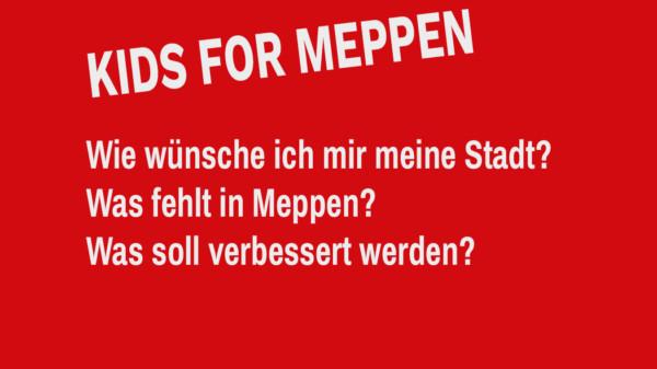"""Shriftzug """"Kids for Meppen"""""""