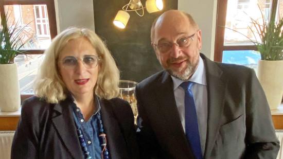 Dr. Daniela De Ridder und Martin Schulz