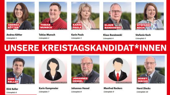 Porträts der Kreistagskandidat*innen